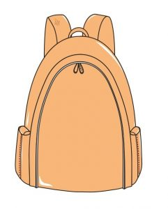 dessin Khoti Sac à dos bag Design Flora Contigo